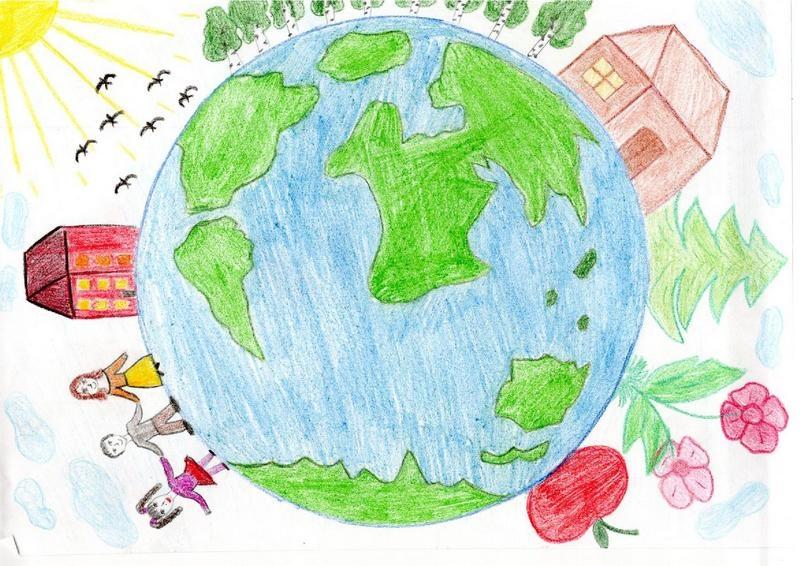 рисунки моя планета земля